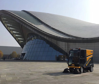Ming-chuang C200 electric sweeper serves hefei convention and exhibition center