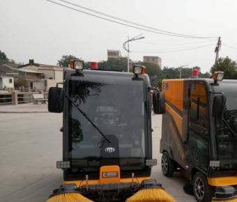 铭创C200全封闭式道路清扫车服务于小区街道