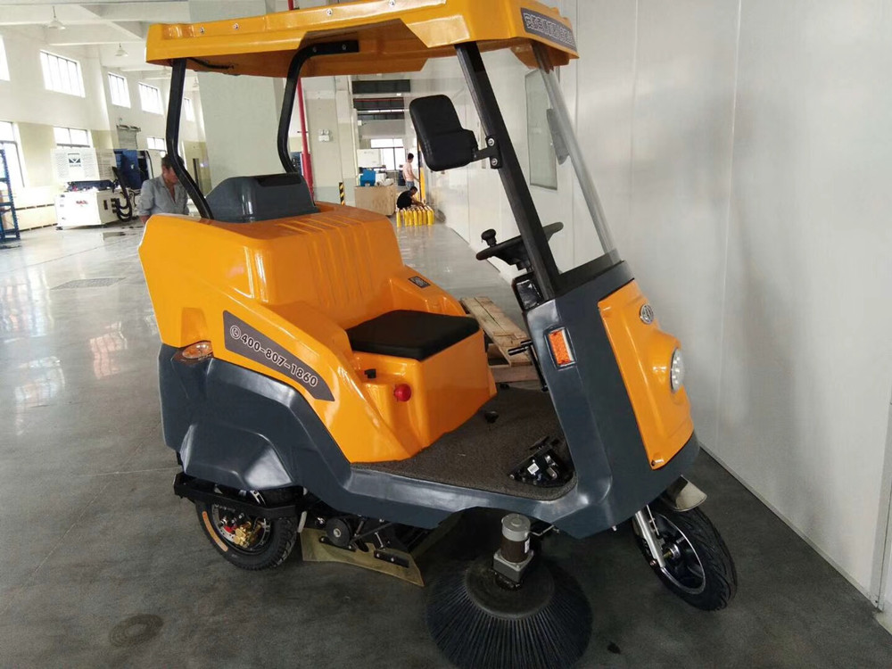 Ming-chuang C170 electric driving road sweeper service workshop